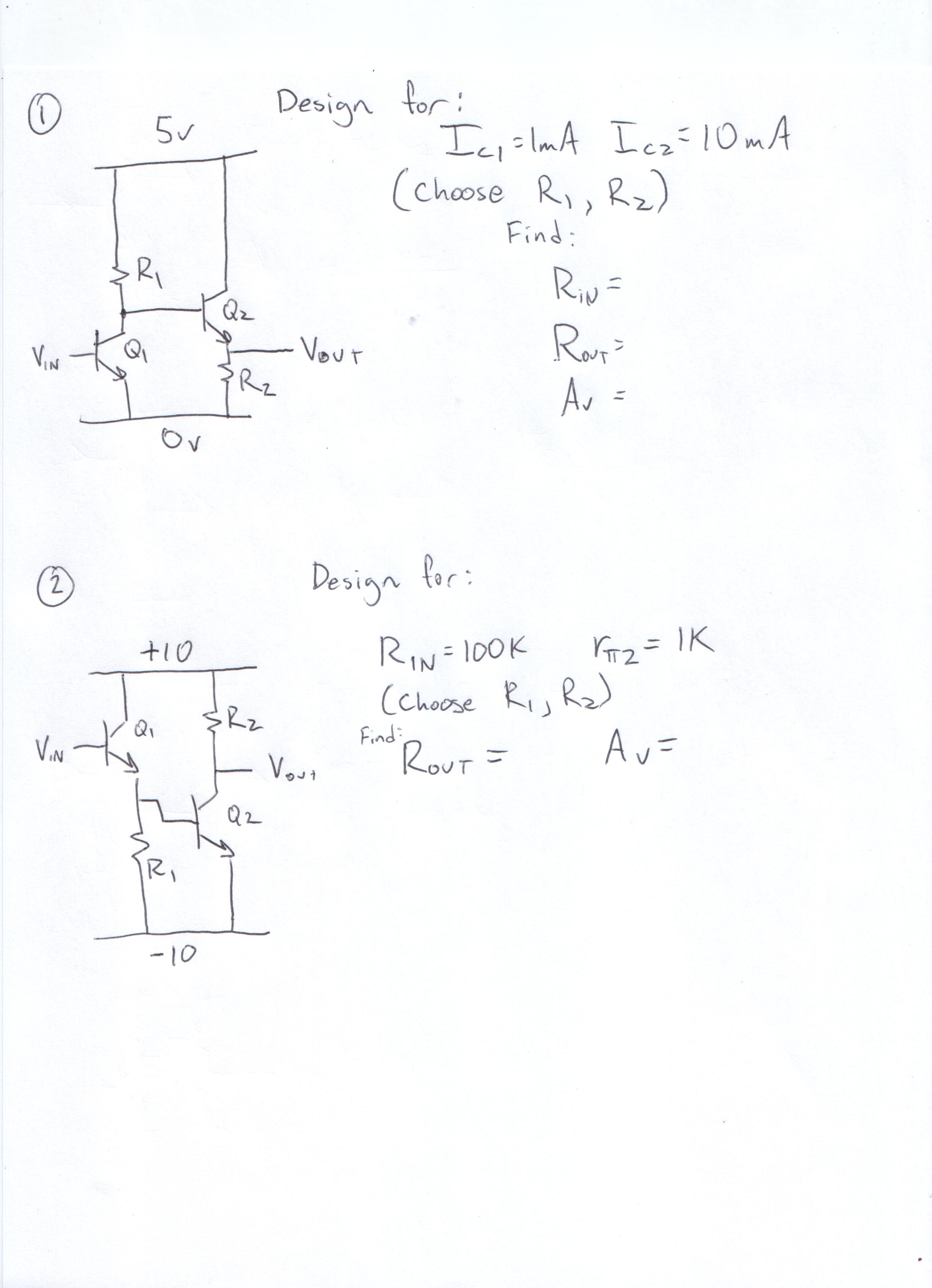 Ee332 Op Amp Summer Circuit Homework 1 Note I Want Data Points Dont Need A Formula For This